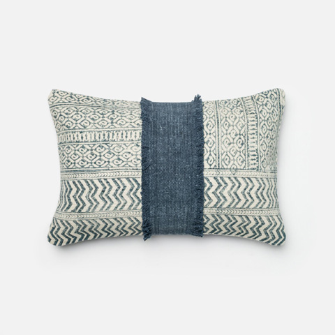 Loloi Rugs - Blue and Ivory Pillow - P0279 BLUE / IVORY