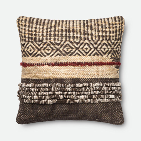 Image of Brown and Red Pillow