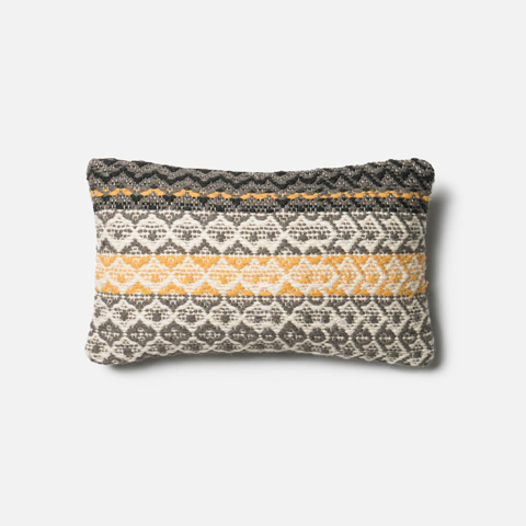Loloi Rugs - Grey and Gold Pillow - P0293 GREY / GOLD