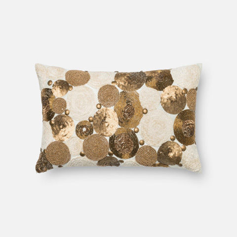 Loloi Rugs - Brown and Beige Pillow - P0300 BROWN / BEIGE