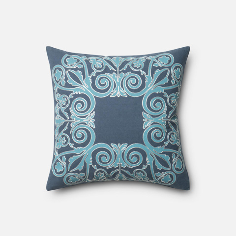 Image of Blue and Blue Pillow