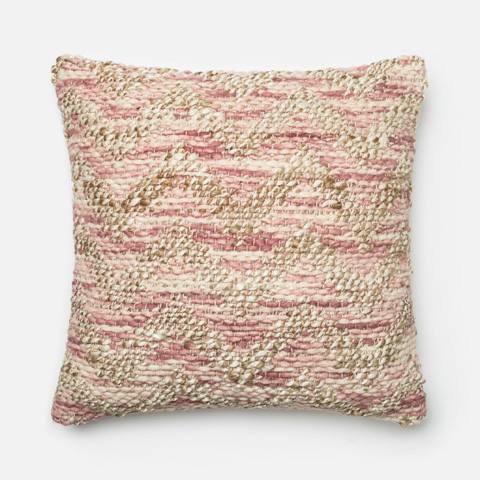 Loloi Rugs - Lilac and Beige Pillow - P0337 LILAC / BEIGE