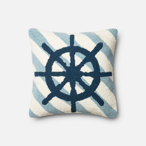 Loloi Rugs - Navy and Ivory Pillow - P0354 NAVY / IVORY