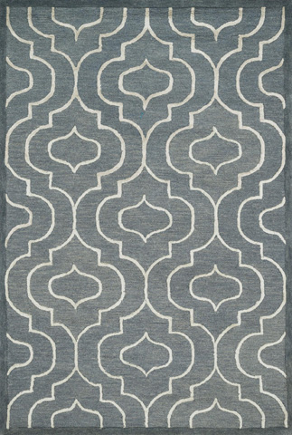 Image of Grey and Ivory Rug