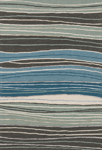 Image of Grey and Blue Rug