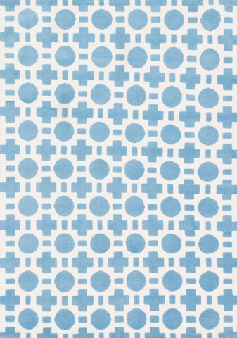 Image of Blue Checkers Rug