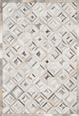 Image of Ivory and Grey Rug