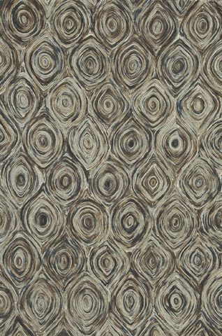 Image of Charcoal and Brown Rug