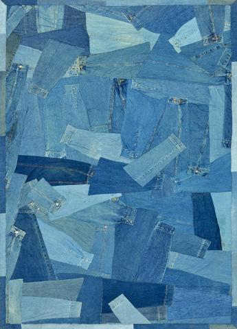Image of Denim Sleeves Rug