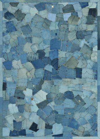 Image of Denim Pockets Rug