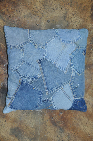 Image of Denim Pockets Pillow