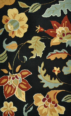 Image of Black and Multi Rug