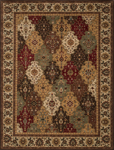 Image of Multi and Beige Rug