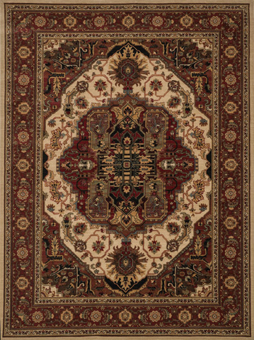 Image of Beige and Rust Rug