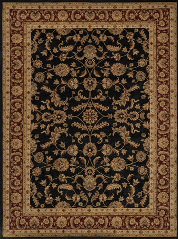 Image of Black and Rust Rug