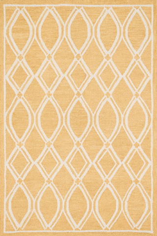 Image of Gold and Ivory Rug
