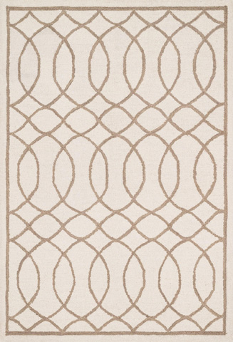 Image of Ivory and Taupe Rug