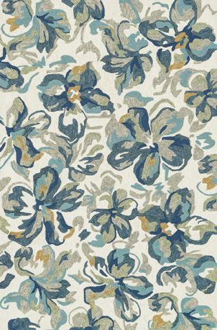 Image of Ivory and Floral Rug