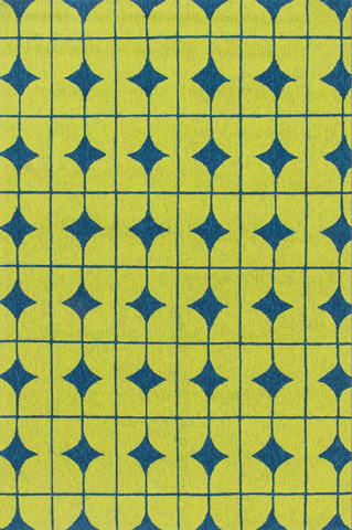 Image of Lime and Blue Rug