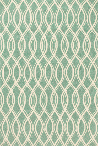Image of Turquoise and Ivory Rug