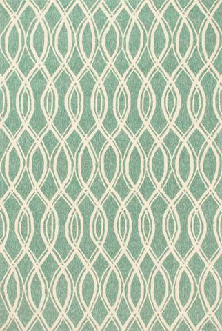 Loloi Rugs - Turquoise and Ivory Rug - VB-10 TURQUOISE / IVORY