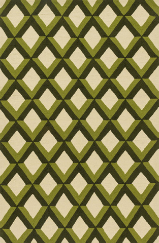 Image of Green Trellis Rug