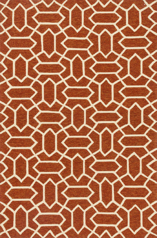 Image of Rust and Ivory Rug