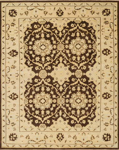 Image of Brown and Light Gold Rug