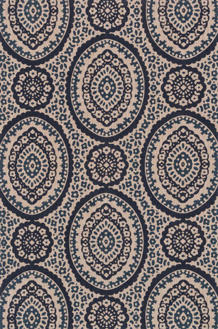 Image of Natural and Navy Rug