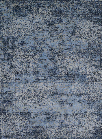 Image of Light Blue and Grey Rug