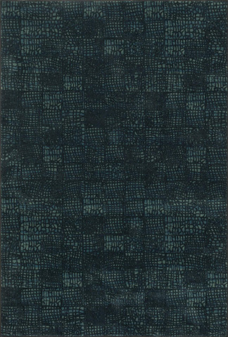 Image of Black and Blue Rug