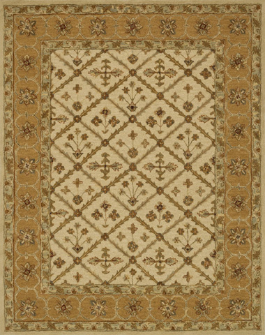 Image of Beige and Gold Rug