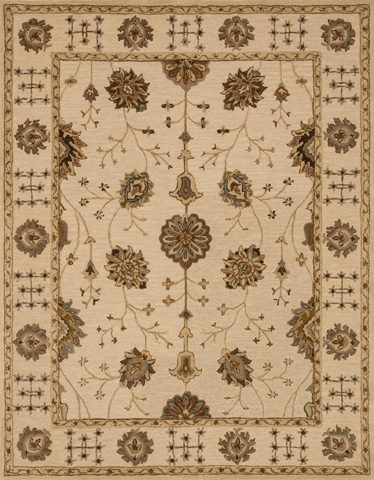 Image of Ivory and Ivory Rug