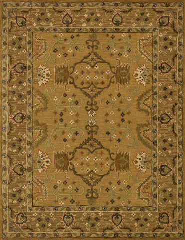 Image of Gold and Brown Rug