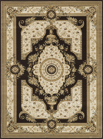 Image of Coffee and Ivory Rug