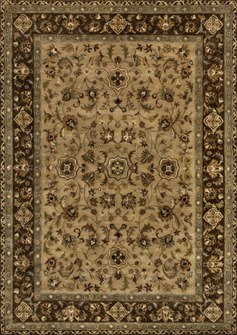 Image of Beige and Brown Rug