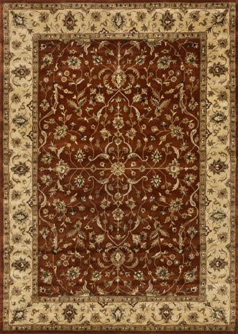 Image of Rust and Light Gold Rug