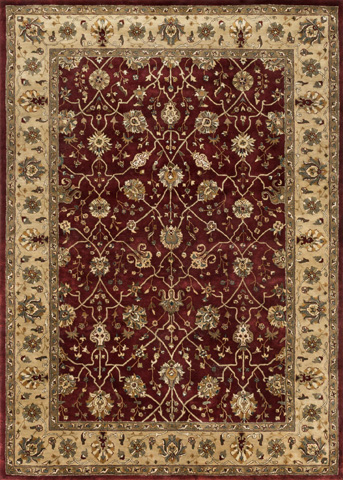Image of Red and Light Gold Rug