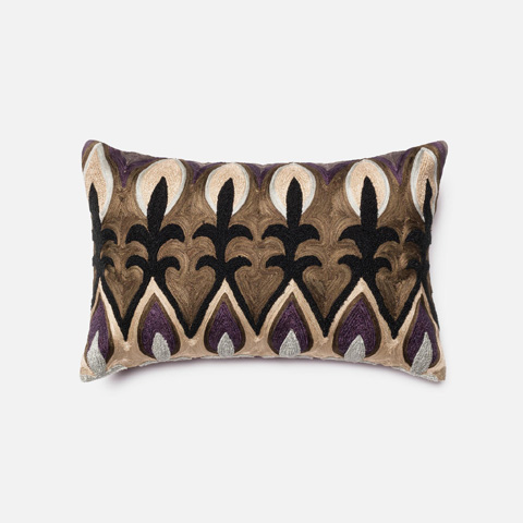 Image of Plum and Multicolor Pillow
