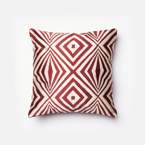 Image of Red and Ivory Pillow
