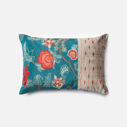 Image of Blue and Red Pillow