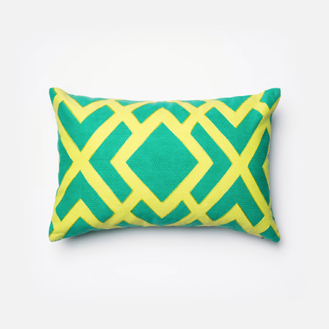 Image of Green and Green Pillow