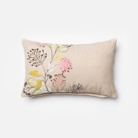Image of Natural and Multicolor Pillow
