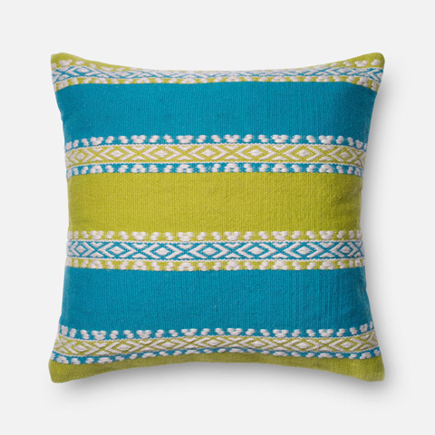 Image of Green and Blue Pillow