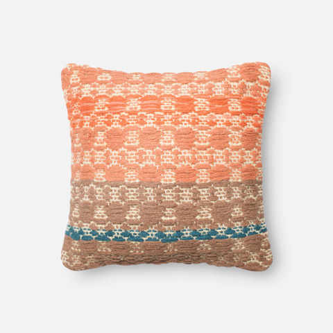 Image of Rust and Light Brown Pillow