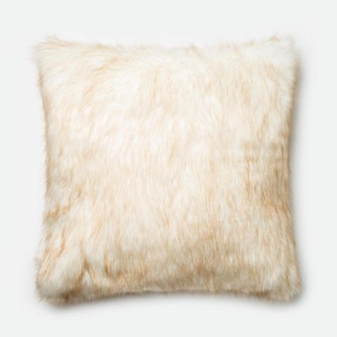Image of Ivory and Camel Pillow