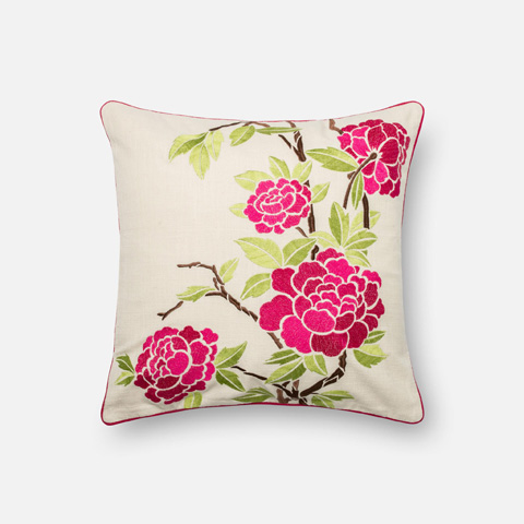 Image of Pink and Ivory Pillow