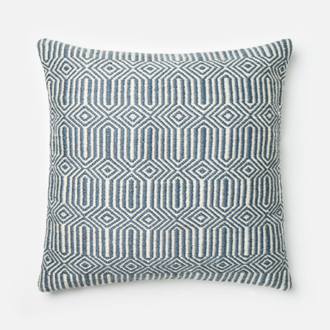 Image of Blue and Ivory Pillow