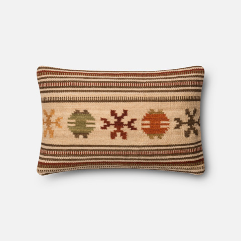 Image of Beige and Rust Pillow