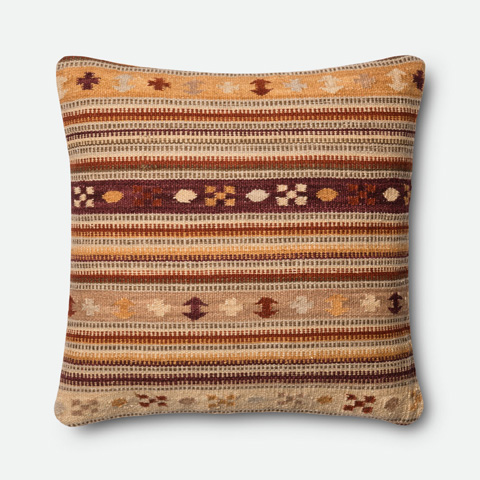 Image of Rust and Gold Pillow